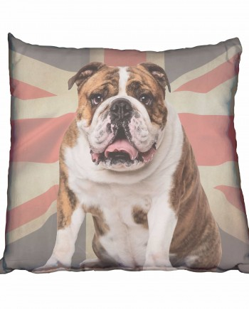 Big Bulldog & UK Flag Scatter Cushion