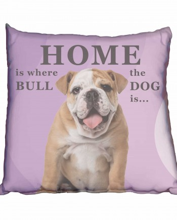 Bulldog Puppy Girl Scatter Cushion