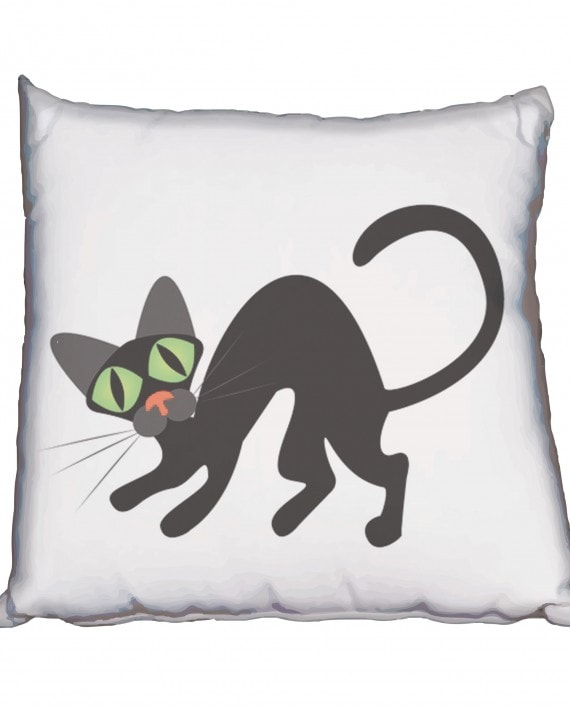 AC004 cat-silhoutte-with-big-green-eyes