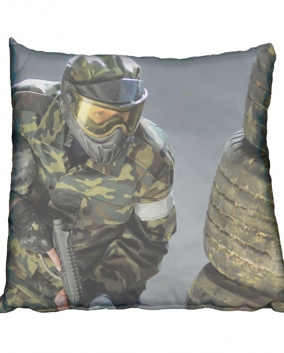 Paintball Attack Scatter Cushion