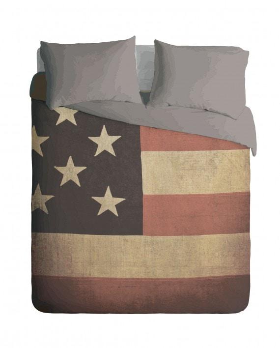 Grunge USA Flag Duvet Cover Set