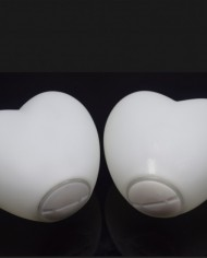 Heart shape floating orb bottom