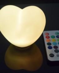 Heart shaped floating orb white