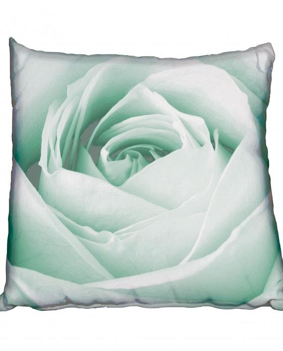 NRC001---Black-&-White-Rose-teal-cushion