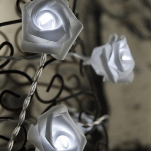 White Rose String Lights
