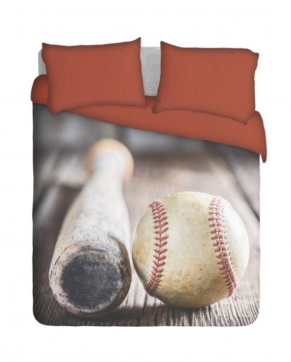 Baseball Bat and Ball Duvet Cover Set