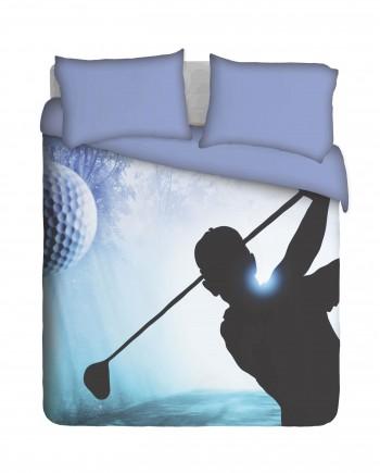 Golfer Swinging Duvet Cover Set