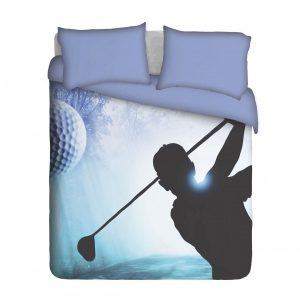 Golfer Swinging Duvet Cover Set