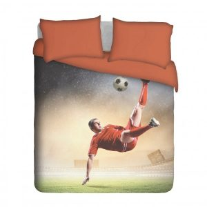 Action Soccer Player Duvet Cover Set