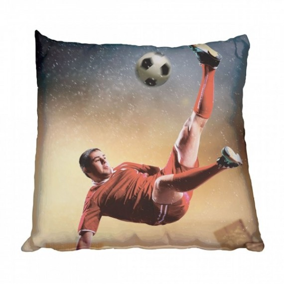 Action Soccer Player Scatter Cushion