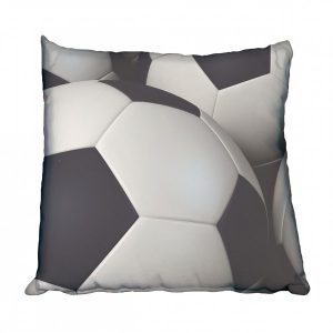 3D Soccer Balls Scatter Cushion