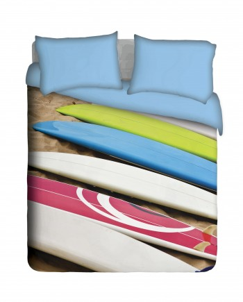Beach and Surfboards Duvet Cover Set