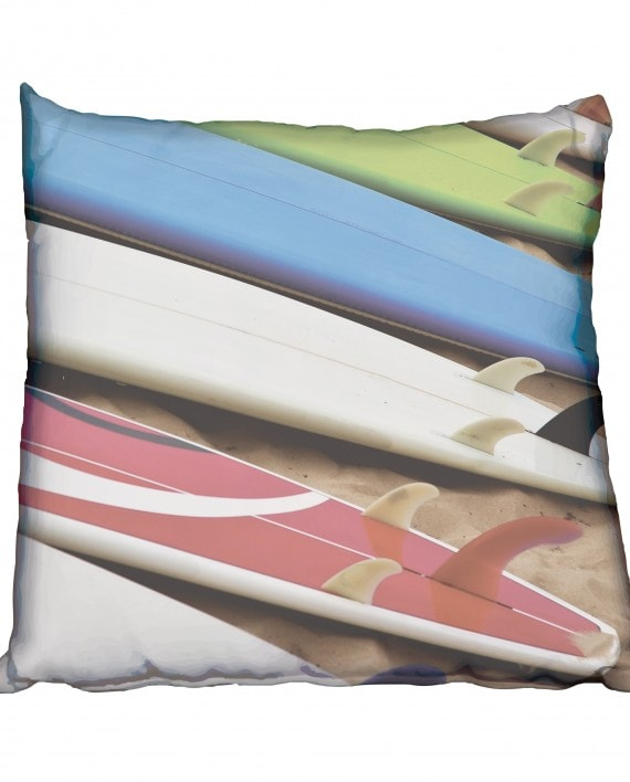 Beached Surfboards Scatter Cushion