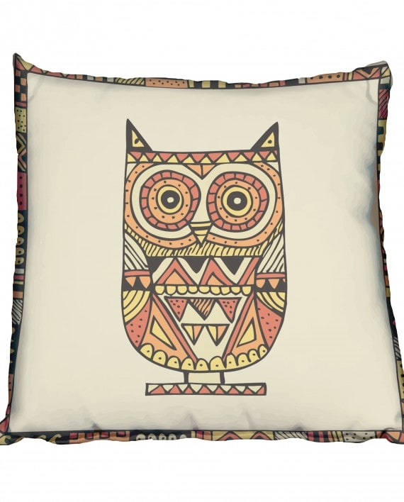 Big Brown Owl Scatter Cushion