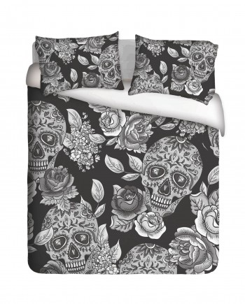 Sugar Skull & Roses Duvet Cover Set