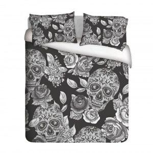 Sugar Skull & Roses Duvet Cover Set