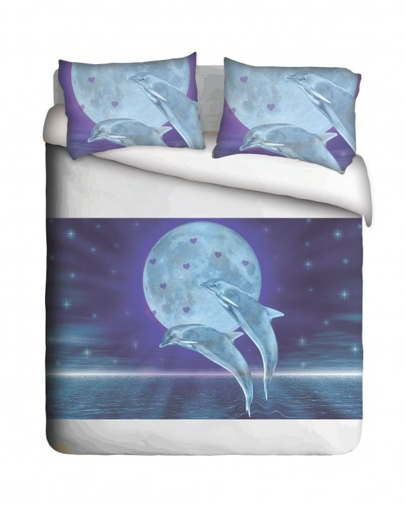 Dolphin & Moon Duvet Cover Set