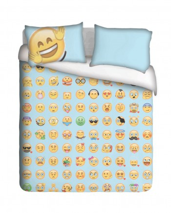 Happy vibes Emoji Duvet Cover Set