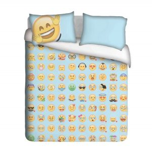 Happy vibes Emoji Duvet Cover Set