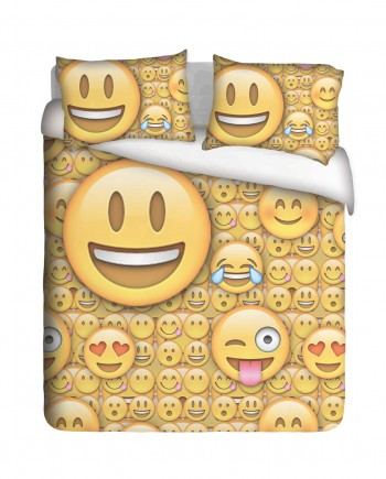 Lol Emoji Duvet Cover Set