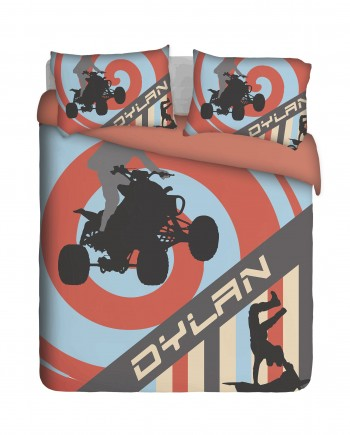 Quad Biker Duvet Cover Set
