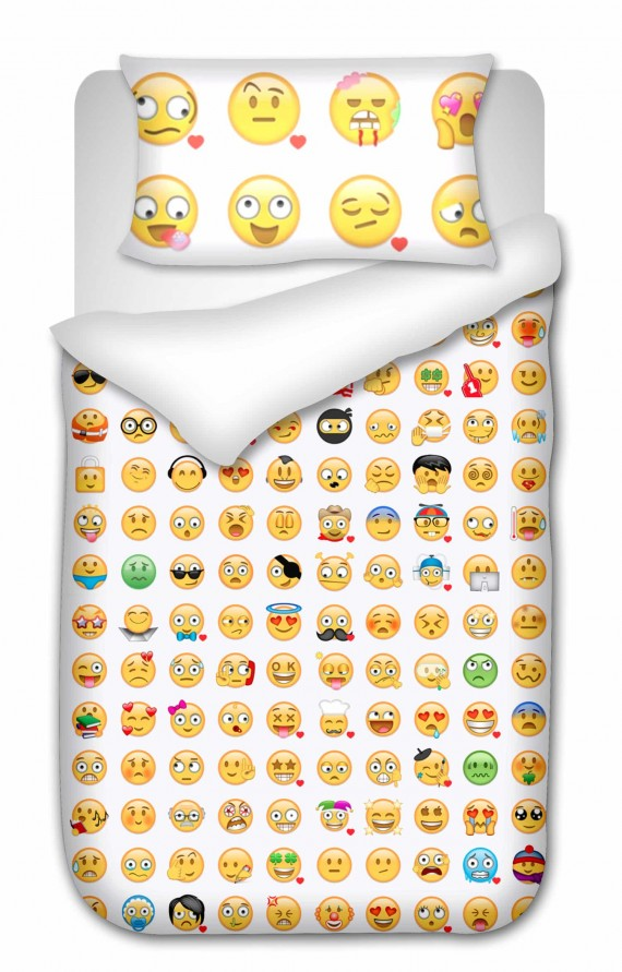 Happy or What Emoji Duvet Cover Set