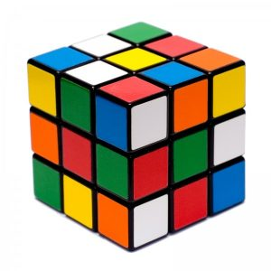 Rubiks Cube Ottoman Slip Cover