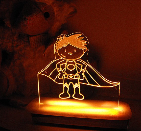 Super Powers Superhero Night Light