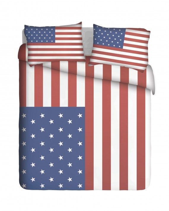 Trendy US Flag Duvet Cover Set