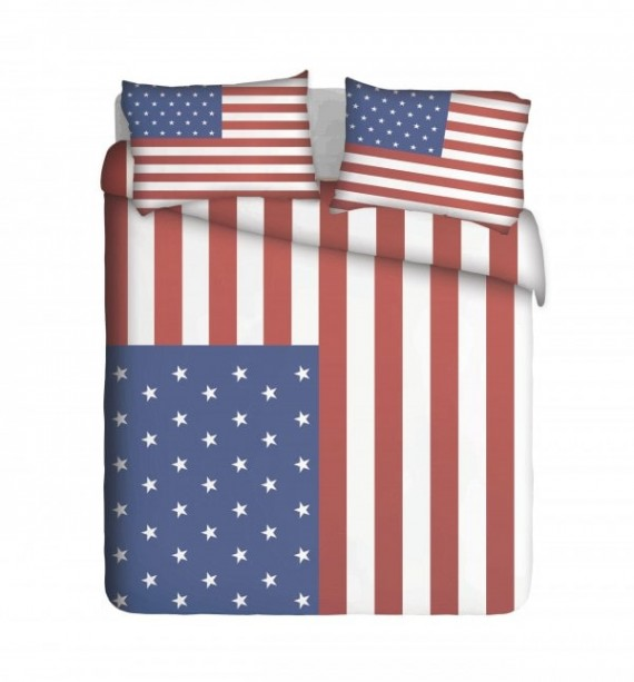 Trendy US Flag Duvet Cover Set