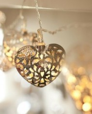 Filigree Heart Light String.