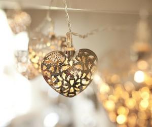 Filigree Heart Light String