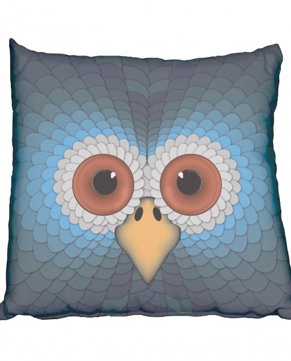 Retro Owl Scatter Cushion