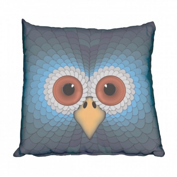 Retro Owl Scatter Cushion