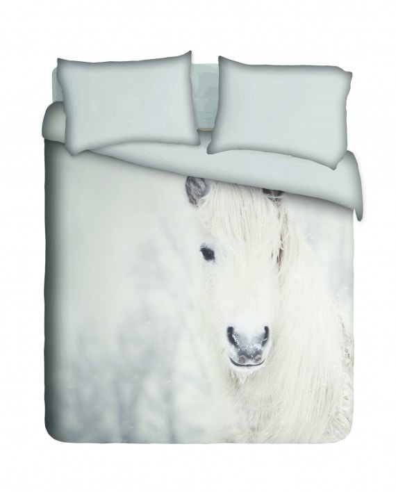 Snow Horse Duvet Cover Set
