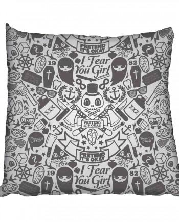 Rocking Skulls Scatter Cushion