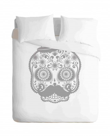 Sugar Skull Man Duvet Cover Set