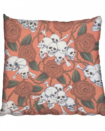 Thorny Rose and Skull Scatter Cushion