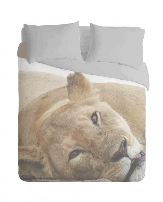 African Lioness Duvet Cover Set