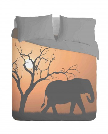 African Elephant Duvet Cover Set