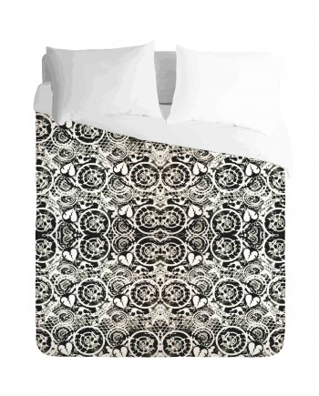 Broken heart and Skull Duvet Cover Set