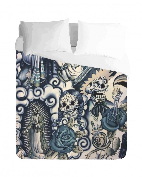 Mexican Skull Duvet Cover Set