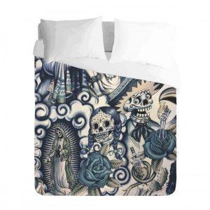 Mexican Skull Duvet Cover Set