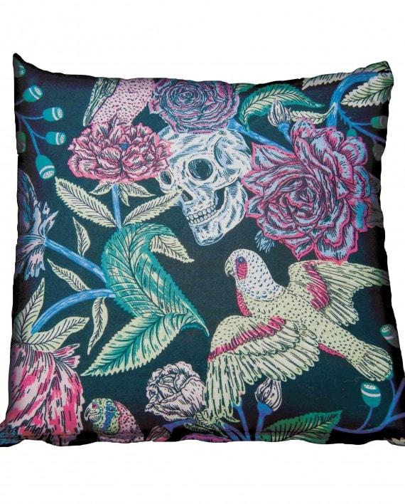 Skull Bird and Roses Scatter