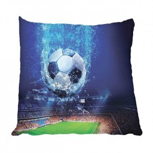 Soccer Ball Water and Stadium Scatter Cushion