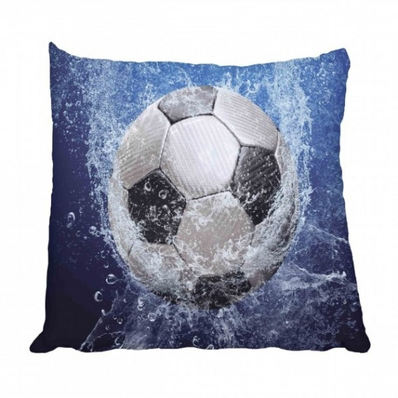 Soccer Ball and Water Scatter Cushion