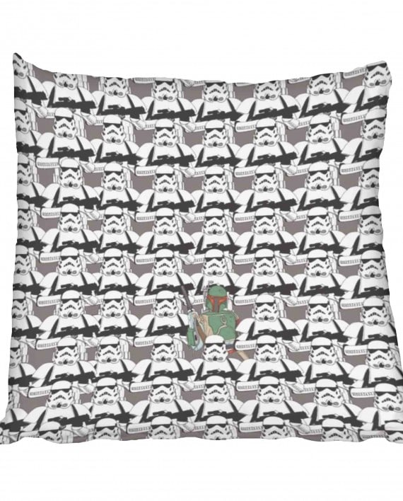 Star Wars Stormtrooper Boba Fett Scatter Cushion