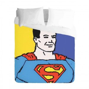 Superman Comic Pop Art Duvet Cover Set