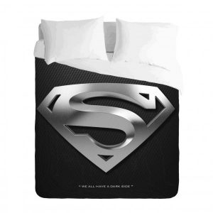 Superman Silver Logo Duvet Cover Set