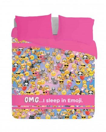 OMG I sleep in Emoji Duvet Cover Set